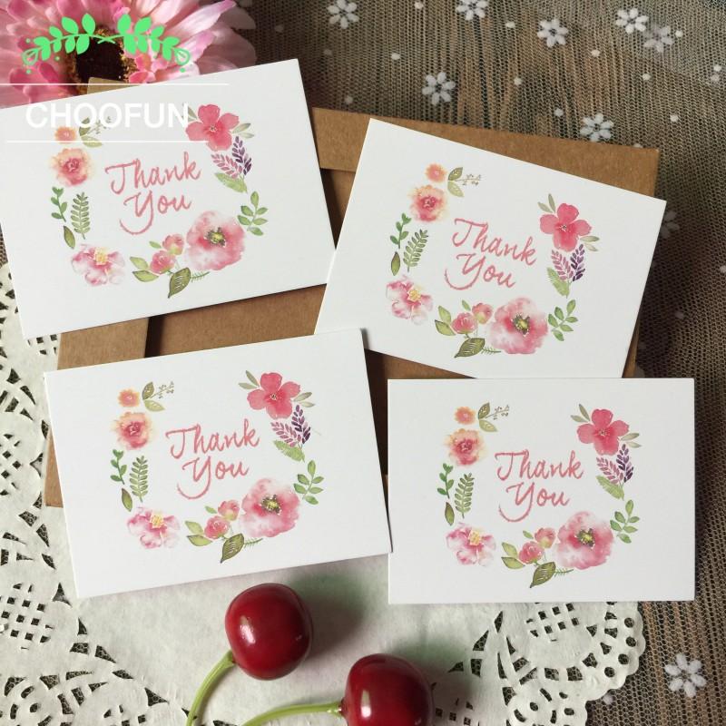 [해외]50pcs / lot 감사합니다 및 꽃 스타일 종이 카드 보상 선물 장식 꽃다발 떠나 메시지 카드 초대장 카드 ZS004/50pcs/lot THANK YOU and Flowers Style Paper Card Rewards Gift Decorations Bouq