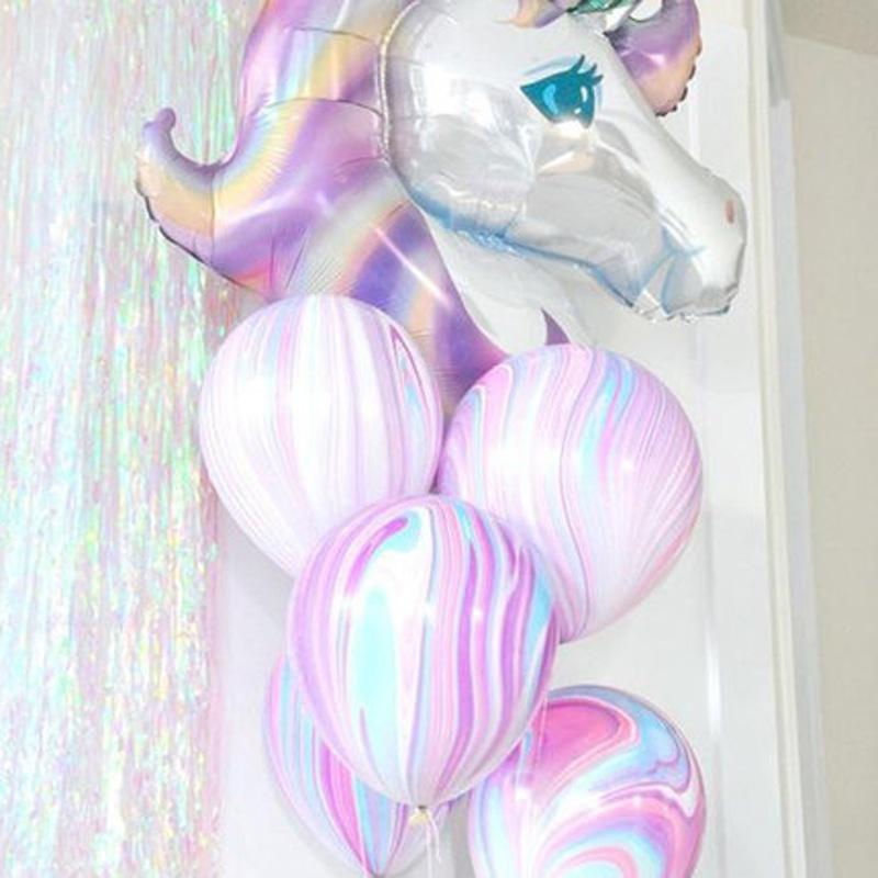 [해외]1set 생일 파티 장식 아이 호일 풍선 큰 유니콘 라텍스 풍선 파티 용품 웨딩 / 할로윈 / 크리스마스/1set Birthday Party Decorations kids Foil Balloons Large Size Unicorn Latex Balloon Par