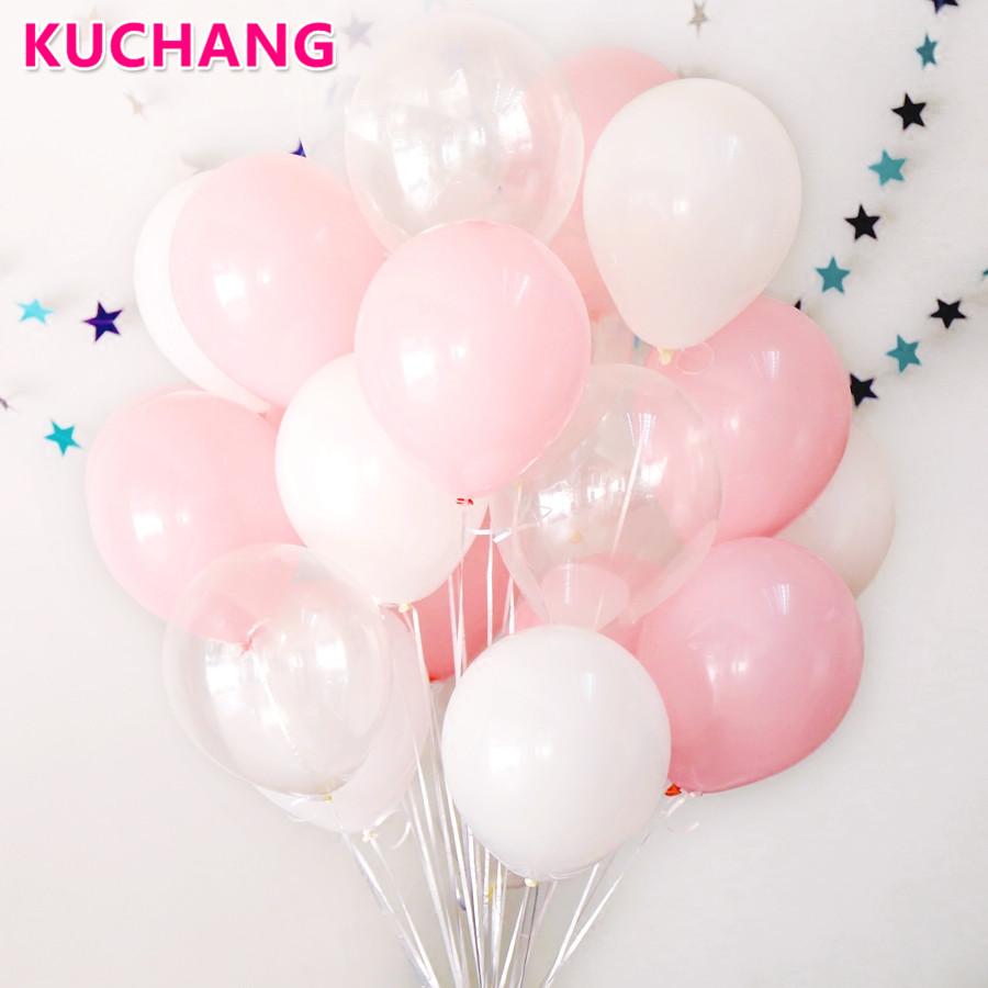 [해외]30 PC의 / 많은 2.3g 핑크 맑은 흰색 2.8g 투명 풍선 라텍스 헬륨 플로트 생일 파티 베이비 샤워 웨딩 디트로 볼/30 Pcs/lot  2.3g pink clear white 2.8g transparent balloons latex helium flo