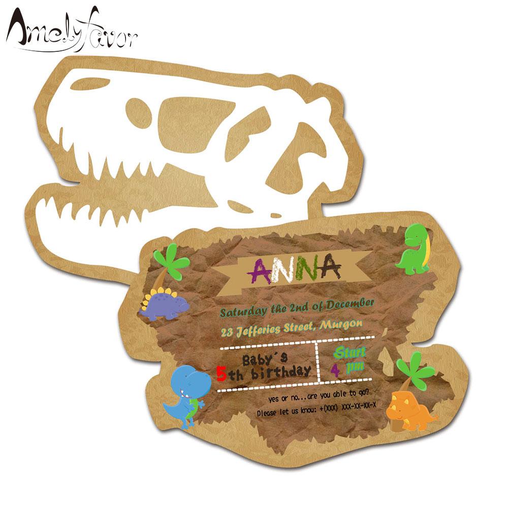 [해외]공룡 테마 초대장 카드 생일 파티 용품 생일 파티 장식 키즈 이벤트 생일 바다 쉘 초대장/Dinosaur Theme Invitations Card Birthday Party Supplies Birthday Party Decorations Kids Event Bi