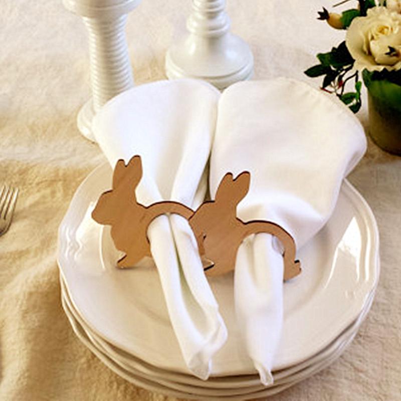 [해외]12pcs 부활절 토끼 냅킨 링 부활절 냅킨 홀더 나무 봄 테이블 장식/12pcs Easter Bunny Napkin Rings Easter Napkin Holders Wood Spring Table Decorations
