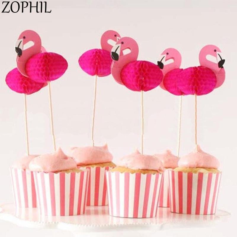 [해외]ZOPHIL 20pcs 플라밍고 케이크 토퍼 웨딩 여름 파티 베이킹 장식 신부 샤워 용품 이벤트 캔디 바 액세서리/ZOPHIL 20pcs Flamingo Cake Topper Wedding Summer Party Baking Decoration Bridal Sh