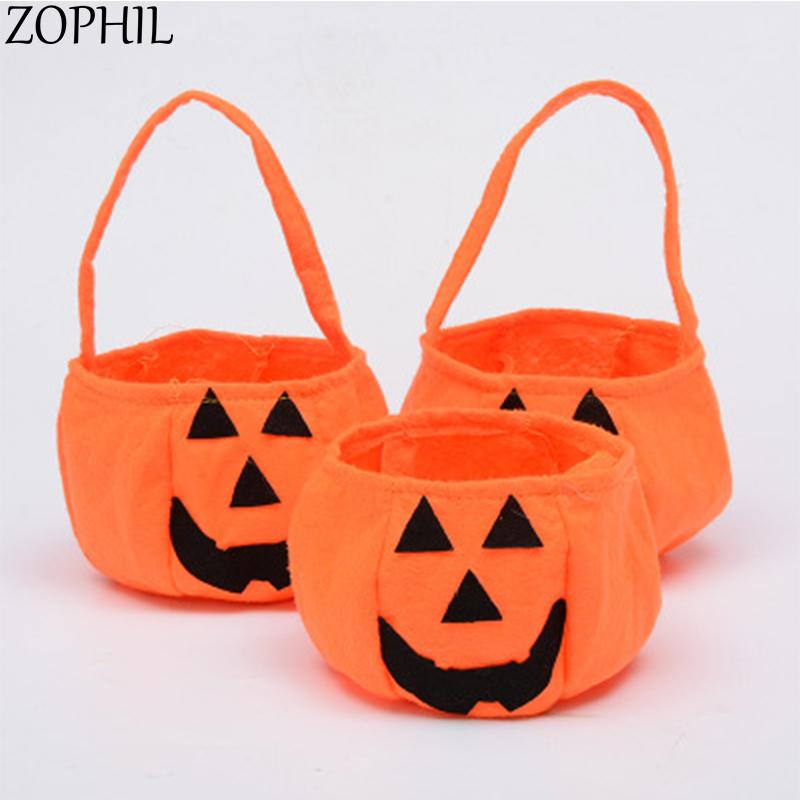 [해외]ZOPHIL 2pc 할로윈 호박 부직포 가방 축제 파티 장식 아이들 재밌 캔디 선물 가방 포장 용품/ZOPHIL 2pc Halloween Pumpkin Non-woven Fabrics Bags Festival Party Decoration Children Fun