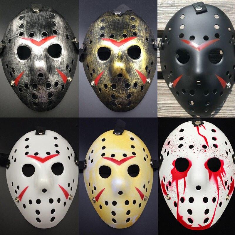 [해외]빈티지 할로윈 마스 커 레이디 마스크 제이슨 프레디 하키 마스크 Delicated 두꺼운 PVC 안전 축제 파티 용품 파티 코스프레/Vintage Halloween Masquerade Masks Jason Freddy Hockey Mask Delicated Th