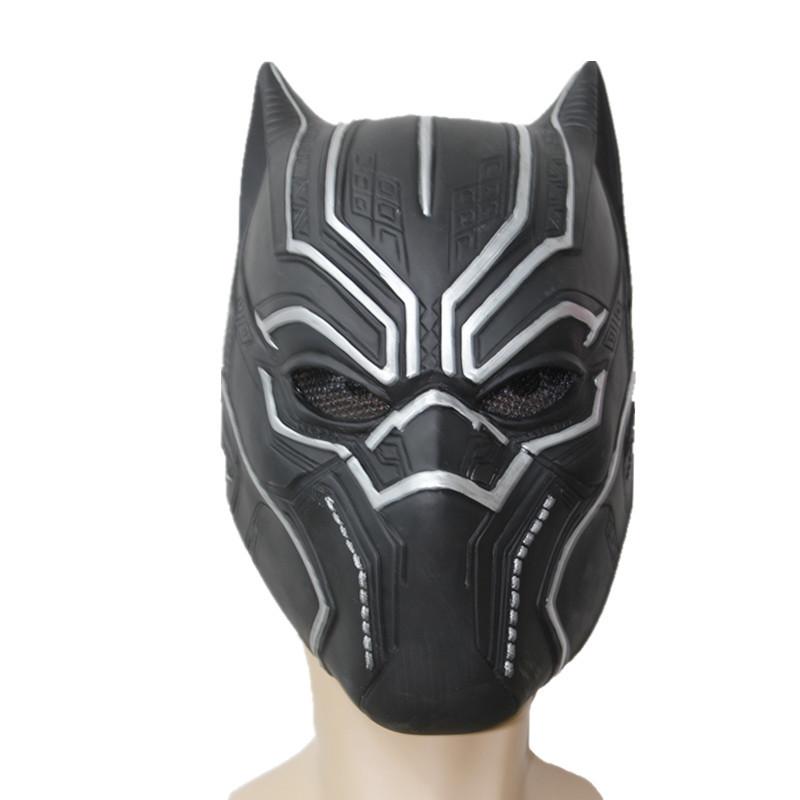 [해외]2018 솔리드 3D 블랙 팬더 마스크 환상적인 4 명의 코스프레 남자 & 라텍스 파티 전체 마스크 ping/2018 Solid 3D Black Panther Masks Movie Fantastic Four Cosplay Men&s Latex Party