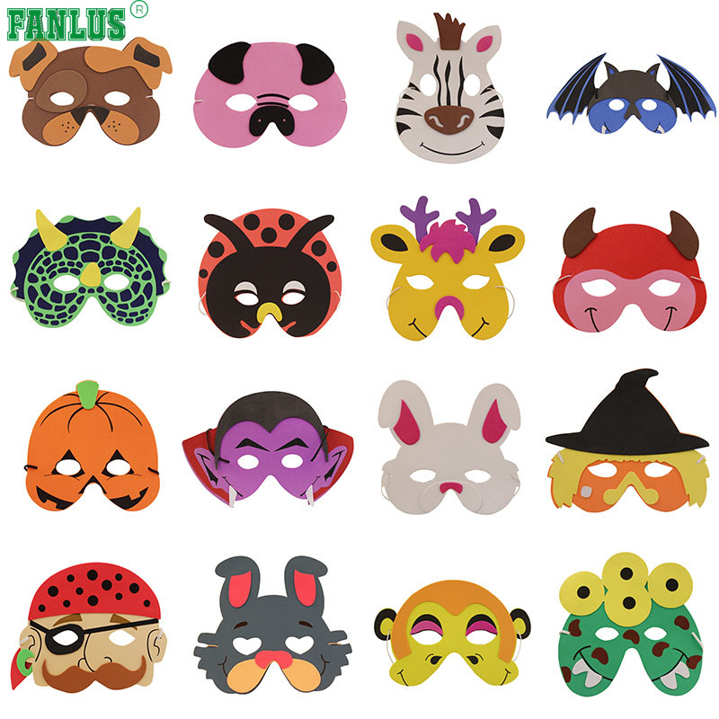 [해외]FANLUS, 편안함 40 모듬 된 거품 동물 파티 마스크, 생일 파티를복장/FANLUS , Comfortable 40 Assorted Foam Animal Party Masks for Birthday Party Favors Dress-Up Costume