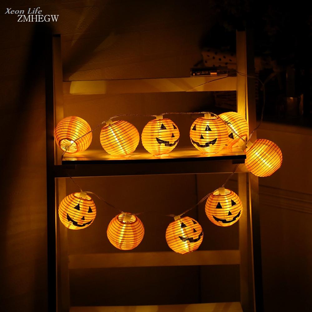 [해외]ZMHEGW 2017 새로운 1 세트 호박 10 LED 문자열 조명 할로윈 장식 조명 따뜻한 화이트 할로윈 홈 인테리어 액세서리/ZMHEGW 2017 New 1 Set Pumpkin 10 LED String Lights Halloween Decoration Li