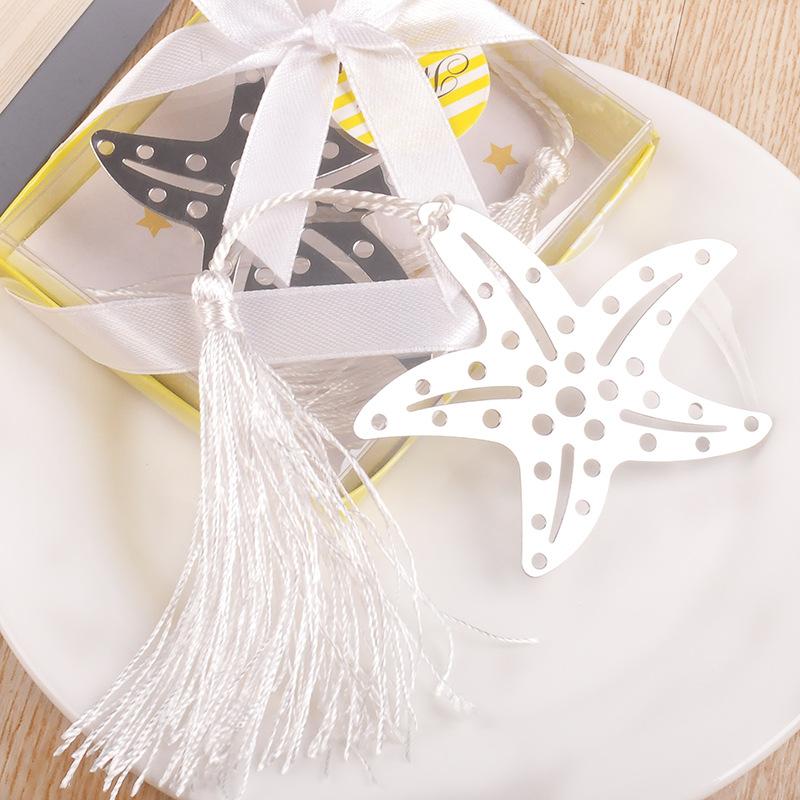 [해외]10pcs / lot 웨딩 기념품 스테인리스 불가사리 책갈피 파티 이벤트 크리 에이 티브 GiftExquisite 포장/10pcs/lot Wedding Souvenir Stainless Steel Starfish Bookmarks Party Creative Gi