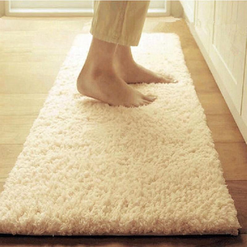 [해외]60 * 120cm 산호 양털 목욕탕 매트 대형 빠른 건조 슈퍼 흡수성 현관 매트리스 슬립 카펫 주방 목욕/60*120cm Coral Fleece Bathroom Mats Large Fast-Drying Super Absorbent  Doormat Floor N