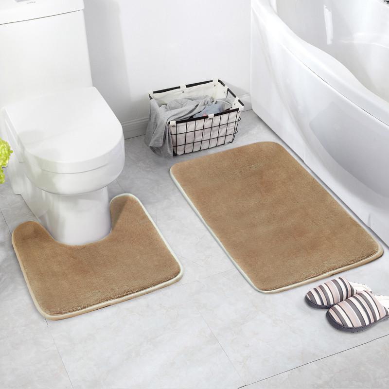 [해외]플란넬 화장실 좌석 쿠션 2 개입 / 세트 욕실 바닥 매트 안티 - 슬립 카펫 목욕 액세서리 슈퍼 소프트 매트리스 욕실 매트/Flannel Toilet Seat Cushion 2 pcs/set Bathroom Floor Mats Anti-slip Carpet B