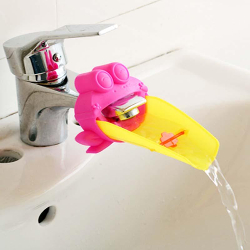 [해외]1PC 핫 키즈 워터 츄우트 욕실 가이 딩 거터 아이들 싱크 탭 남자 여자 수도꼭지 주방 욕실 액세서리/1PC Hot Kids Water Chute Bathroom Guiding Gutter Children Sink Tap Boys Girls Faucet Kit