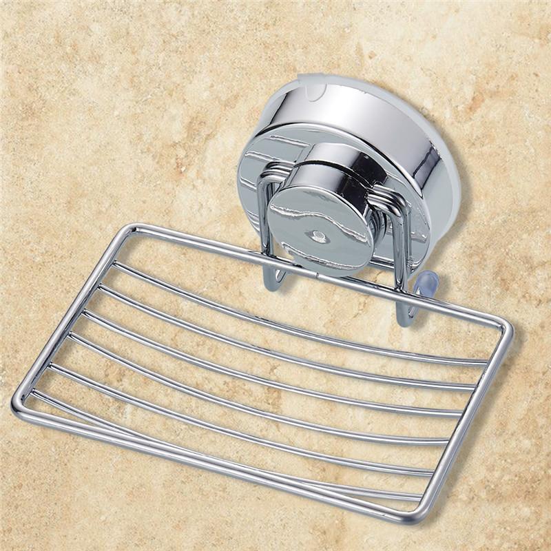 [해외]스테인레스 스틸 강한 흡입 욕실 비누 홀더 샤워 비누 접시 홀더 샤워 트레이 욕실 액세서리 욕실 세트/Stainless Steel Strong Suction Bathroom Soap Holder Shower Soap Dish Holder Shower Tray B