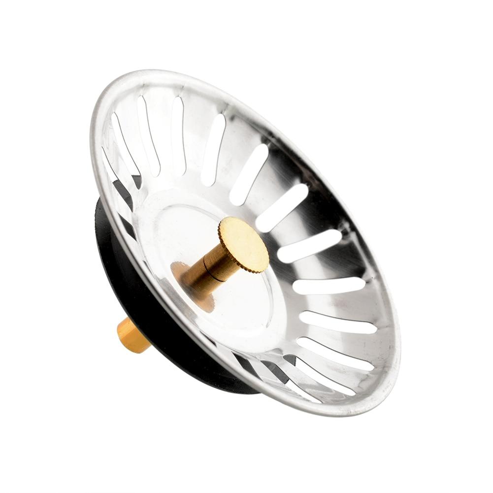 [해외]2 개 새 스테인레스 스틸 싱크 고무 황동 스트레이너 폐수 배출 스톱퍼 필터 바구니 쿡/2 pcs New  Stainless Steel Sink Rubber Brass Strainer Waste Plug Drain Stopper Filter Basket Cook