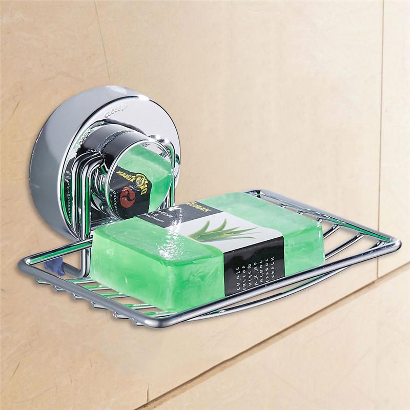 [해외]스테인레스 스틸 비누 접시 홀더 진공 흡입 컵 비누 저장 욕실 세트 샤워 욕실 액세서리 주방 액세서리/Stainless Steel Soap Dish Holder Vacuum Suction Cup Soap Storage bathroom set Shower Acce