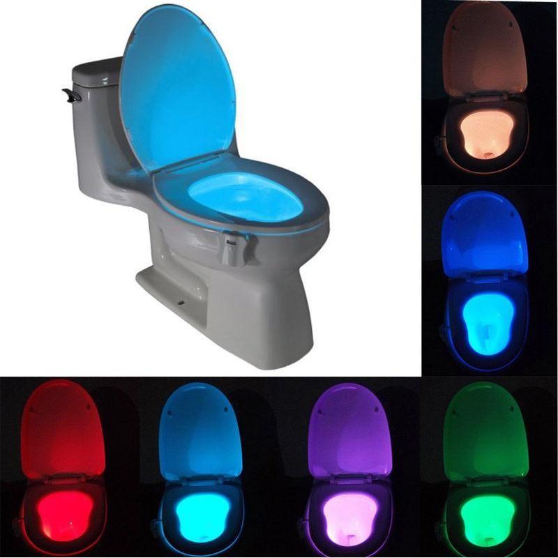 [해외]스마트 욕실 화장실 Nightlight LED 바디 모션 활성화 켜기 / 끄기 좌석 센서 램프 Hot 8 색 화장실 램프/Smart Bathroom Toilet Nightlight LED Body Motion Activated On/Off Seat Sensor