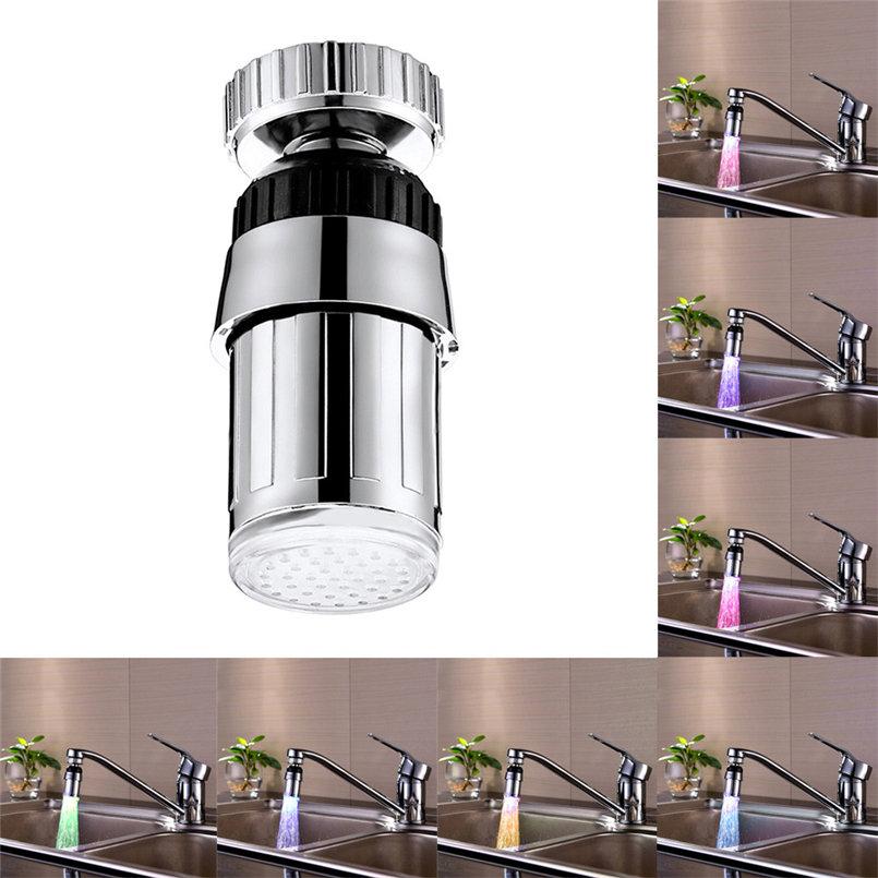 [해외]주방 싱크 여러 가지 빛깔의 변화 워터 글로우 워터 스트림 샤워 LED 수도꼭지 라이트 D13/Kitchen Sink Multicolor Change Water Glow Water Stream Shower LED Faucet Taps Light D13