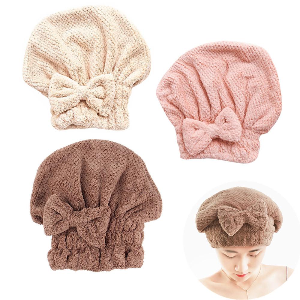 [해외]2018 새로운 패션 마이크로 화이버 머리 터 번 신속 하 게 머리 모자를 착용 여자 수건 모자 35 모자/2018 New Fashion Microfiber Hair Turban Quickly Dry Hair Hat Wrapped Towel Bathing Cap