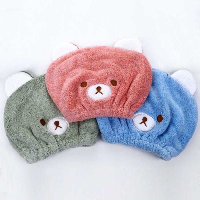 [해외]사랑스러운 동물의 만화 목욕 흡수 마법 빠른 건조 목욕 머리 건조 수건 머리 랩 모자 모자 입욕 도구/Lovely Animal Cartoon Bath Absorbing Magic Quick Dry Bath Hair Drying Towel Head Wrap Hat