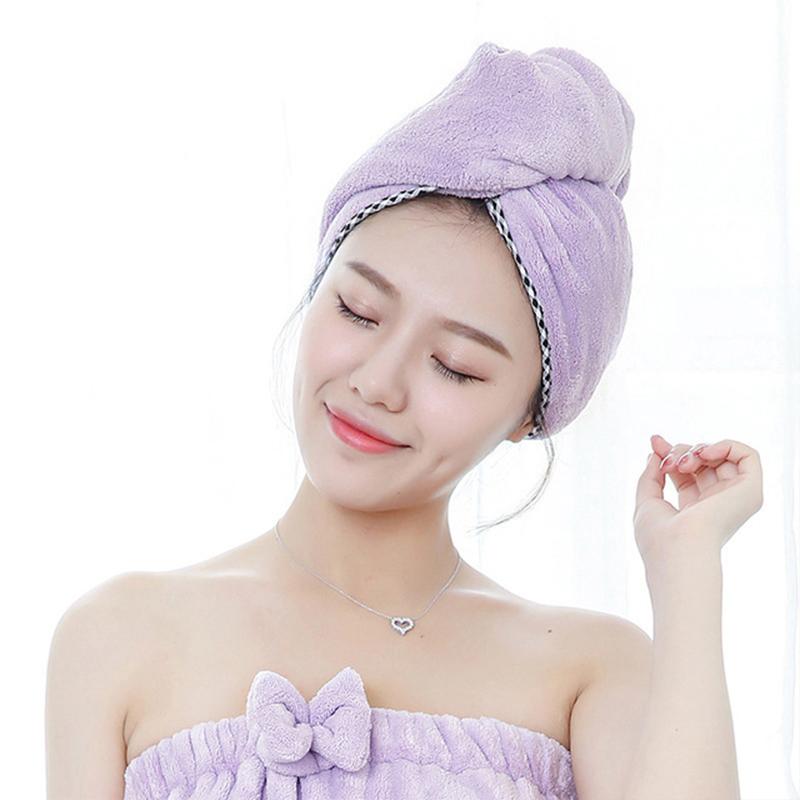 [해외]?머리 수건 욕실 슈퍼 흡수 속건 마이크로 화이버 목욕 타올 헤어 드라이 캡 살롱 타워 25x65cm/ Towel For Hair Bathroom Super Absorbent Quick-drying Microfiber Bath Towel Hair Dry Cap