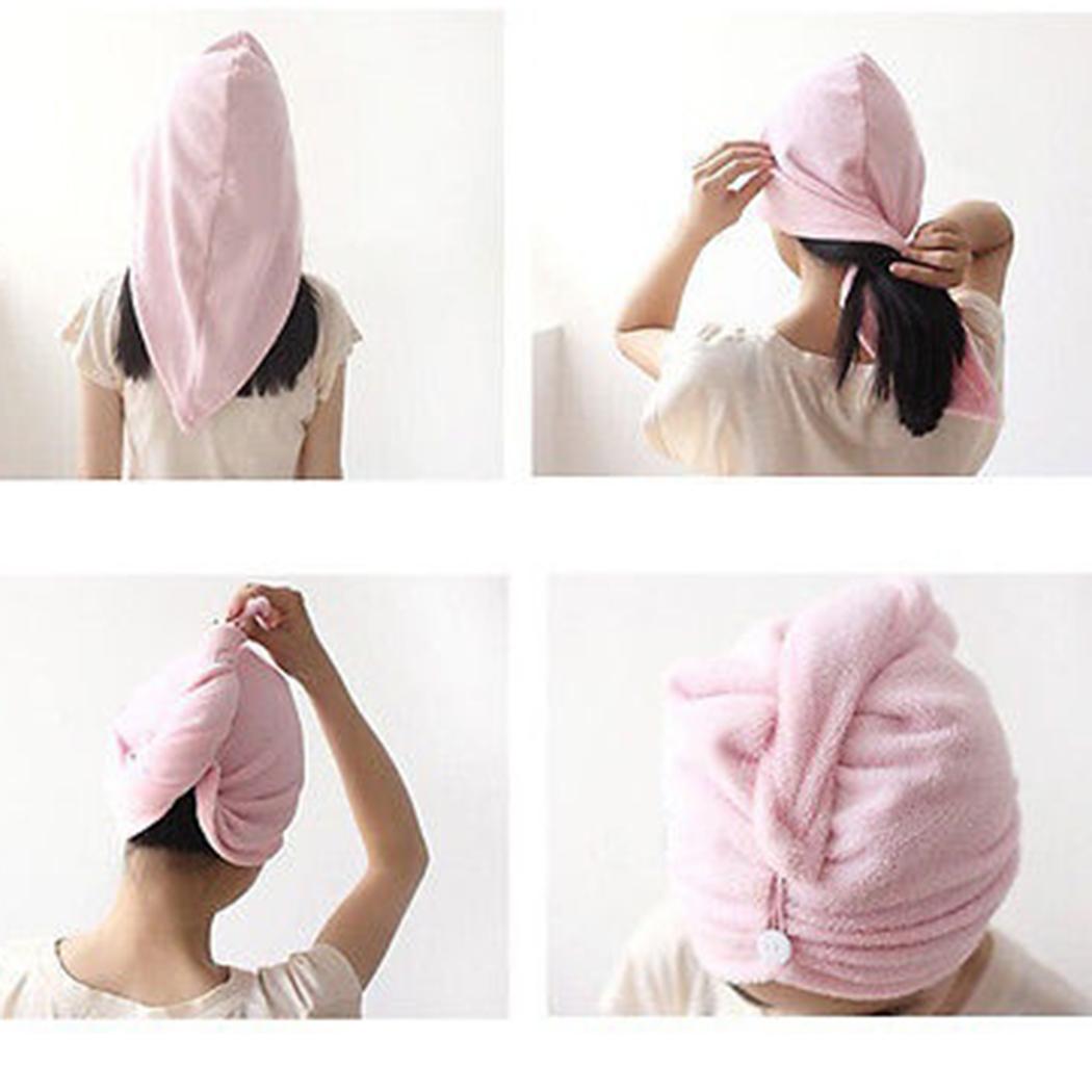 [해외]60 x 22 cm 마이크로 화이버 타올 퀵 드라이 헤어 샤워 캡 마술 건조 터번 랩 모자 캡 스파 목욕/60 x 22 cm Microfiber Towel Quick Dry Hair Shower Caps Magic Drying Turban Wrap Hat Cap