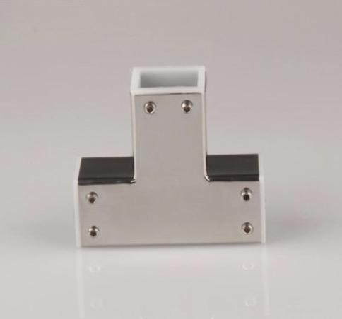 [해외](25mm 튜브) 304 스테인리스 스틸 사각 튜브로드 액세서리 욕실 사각 튜브 티 커넥터/( 25mm tube )304 stainless steel square tube rod accessories Bathroom square tube tee connector