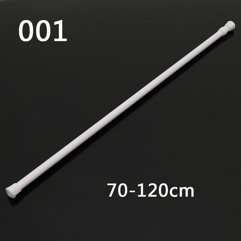 [해외]70-120cm 연장 가능한 샤워 커튼 폴 텔레스코픽 샤워 커튼 레일로드/70-120cm Extendable shower curtain poles Telescopic Shower Curtain Rail Rod Adjustable tringle a rideaux