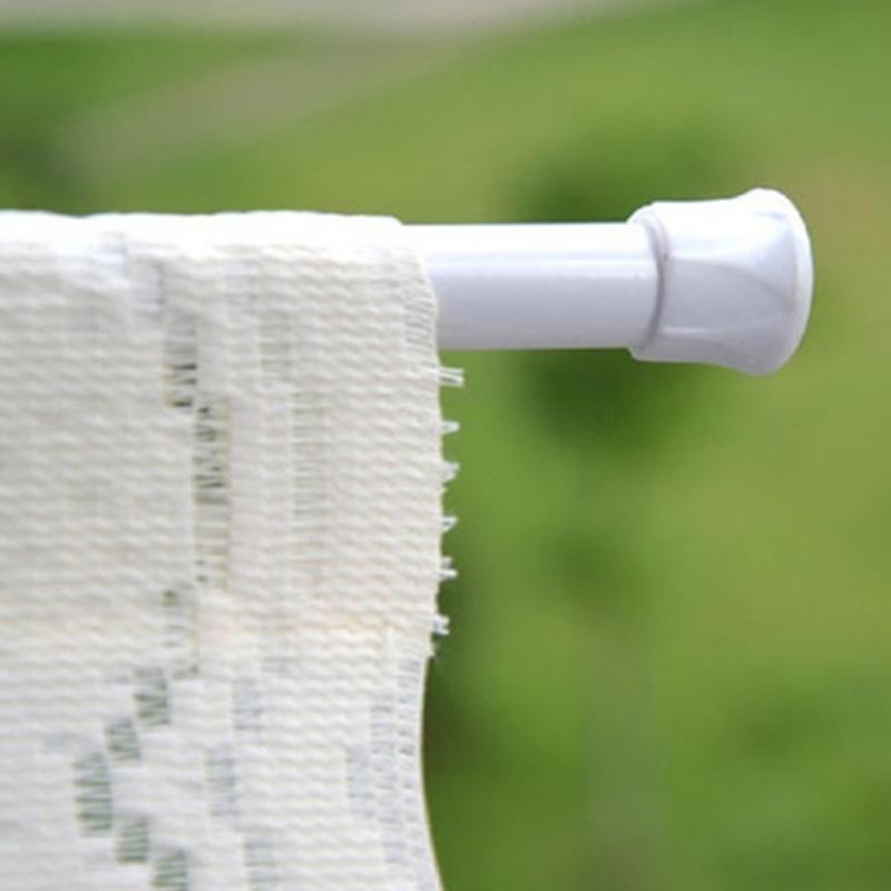 [해외]욕실 매달려 조절 55-90cm 라운드 봄 그물 샤워 커튼로드 Voile 연장 텐션 텔레스코픽 극로드 걸이/Bathroom Hanging Adjustable 55-90cm Round Spring Net Shower Curtain Rod Voile Extendab