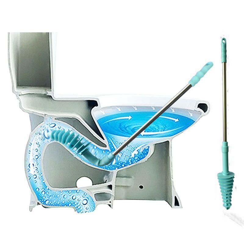 [해외]긴 취급 화장실 플런저 피스톤 유형 준설 장치 가정용 화장실 하수도 파이프 막힌 준설 공구 유연한 간편한 작동/Long-handled Toilet Plungers Piston Type Dredge Device Household Toilet Sewer Pipe C