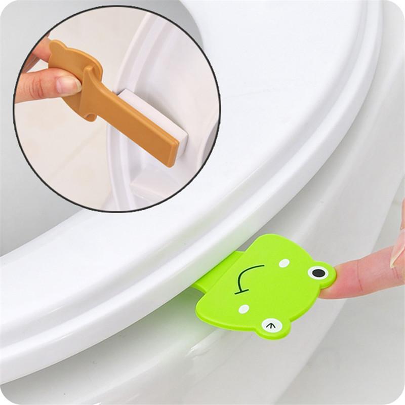 [해외]크리 에이 티브 화장실 커버 리프팅 장치 욕실 화장실 뚜껑 휴대용 손잡이 화장실 커버 리프터 더러운 손 오픈 5ZCF196/Creative Toilet Cover Lifting Device Bathroom Toilet Lid Portable Handle Toil