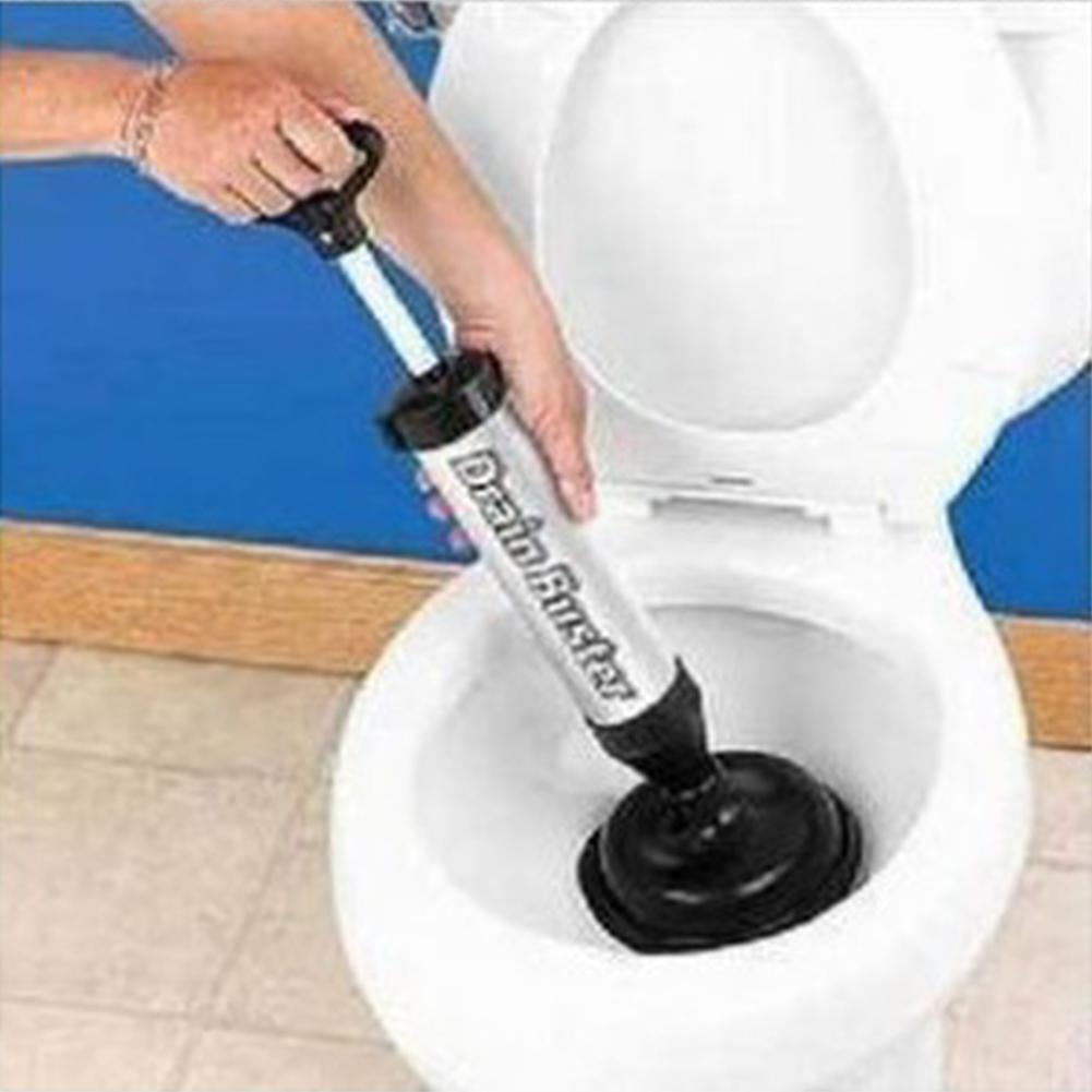 [해외]LanLan 공기 압력 유형 화장실 준설 장치 드레인 싱크 파이프 방해물 리무버 욕실 주방 클리너 도구 -30/LanLan Air-pressure Type Toilet Dredging Device Drain Sink Pipe Clog Remover Bathroo