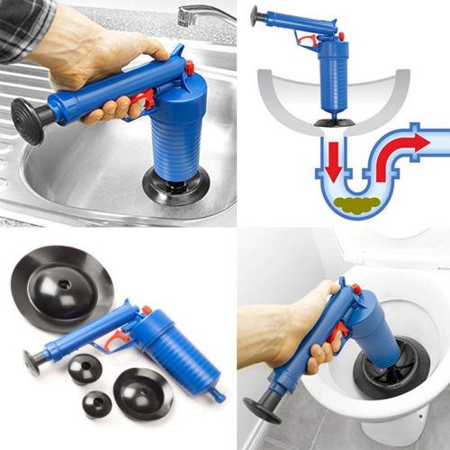 [해외]고압 공기 블로우 어 배출구 블로어 화장실 펌프 플런저 준설선 싱크 파이프 방해물 리무버 욕실 주방 클리너 키트/High Pressure Air blowing the drain Blaster Toilet Pump Plungers dredge Sink Pipe C