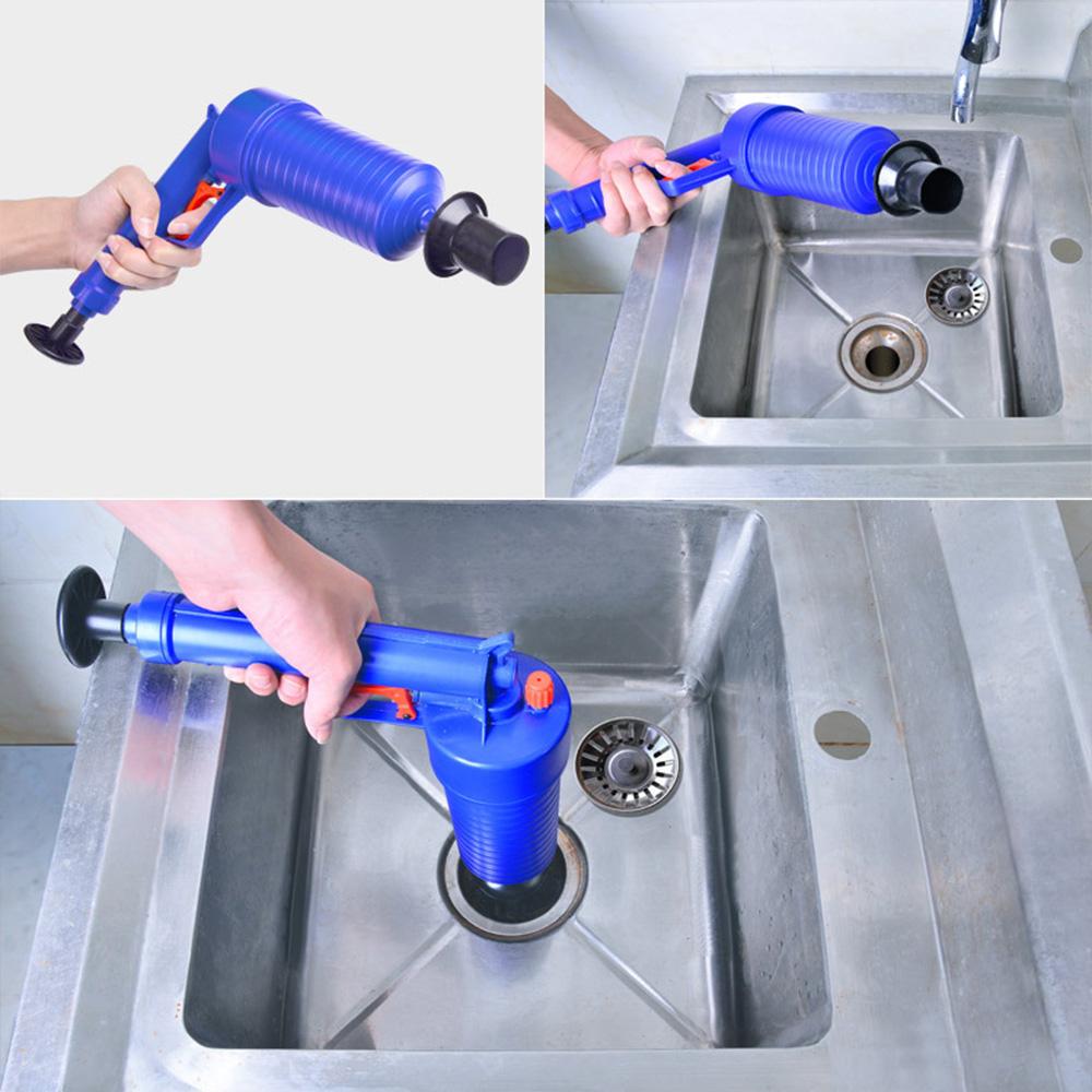 [해외]Mealivos 고압 공기 드레인 블래스터 펌프 플런저 싱크 파이프 방해물 리무버 화장실 욕실 주방 클리너 키트/Mealivos High Pressure Air Drain Blaster Pump Plunger Sink Pipe Clog Remover Toilet