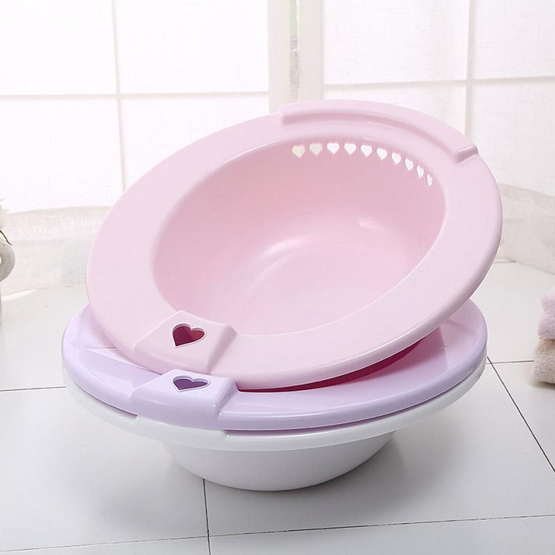 [해외]욕실 세면대 플라스틱 교수형 화장실에 대한 임산부 청소 세제 후 청소 도구 8 XH8Z/Bathroom Washbasin Plastic Hanging Maternal Cleaning Basin For Toilet Postoperative Clean Tool  8