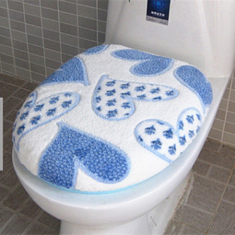 [해외]슈퍼 소프트 산호 양털 2 피스 화장실 패드 시트 커버 따뜻한 깨끗한 세탁 트윈 세트/Super Soft Coral Fleece Two-pieces Toilet Pad Seat Cover Warm Clean Washable Twin Set