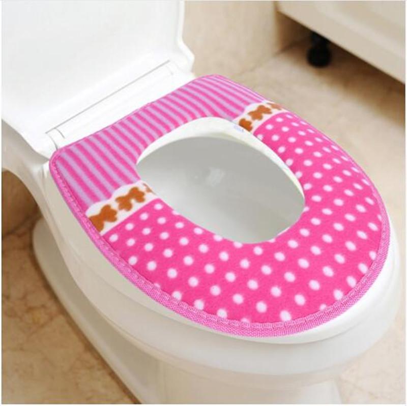 [해외]겨울 화장실 좌석 따뜻한 산호 양털 두꺼운 카펫 화장실 좌석 커버 부드러운 편안한 아기 변기 시트 오버 코트 화장실 케이스/Winter Toilet Seat Warmer Coral fleece Thicken Carpet Toilet Seat Cover Soft