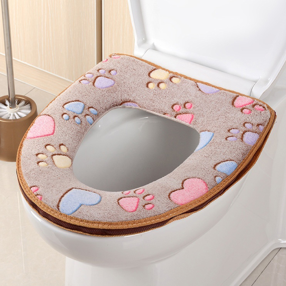 [해외]1 개 고품질 화장실 온열 변기 부드러운 천으로 빨 수있는 뚜껑 위 커버 패드 귀여운/1 pcs High quality Bathroom Warmer Toilet Seat Cloth Soft Closestool Washable Lid Top Cover Pad Cu