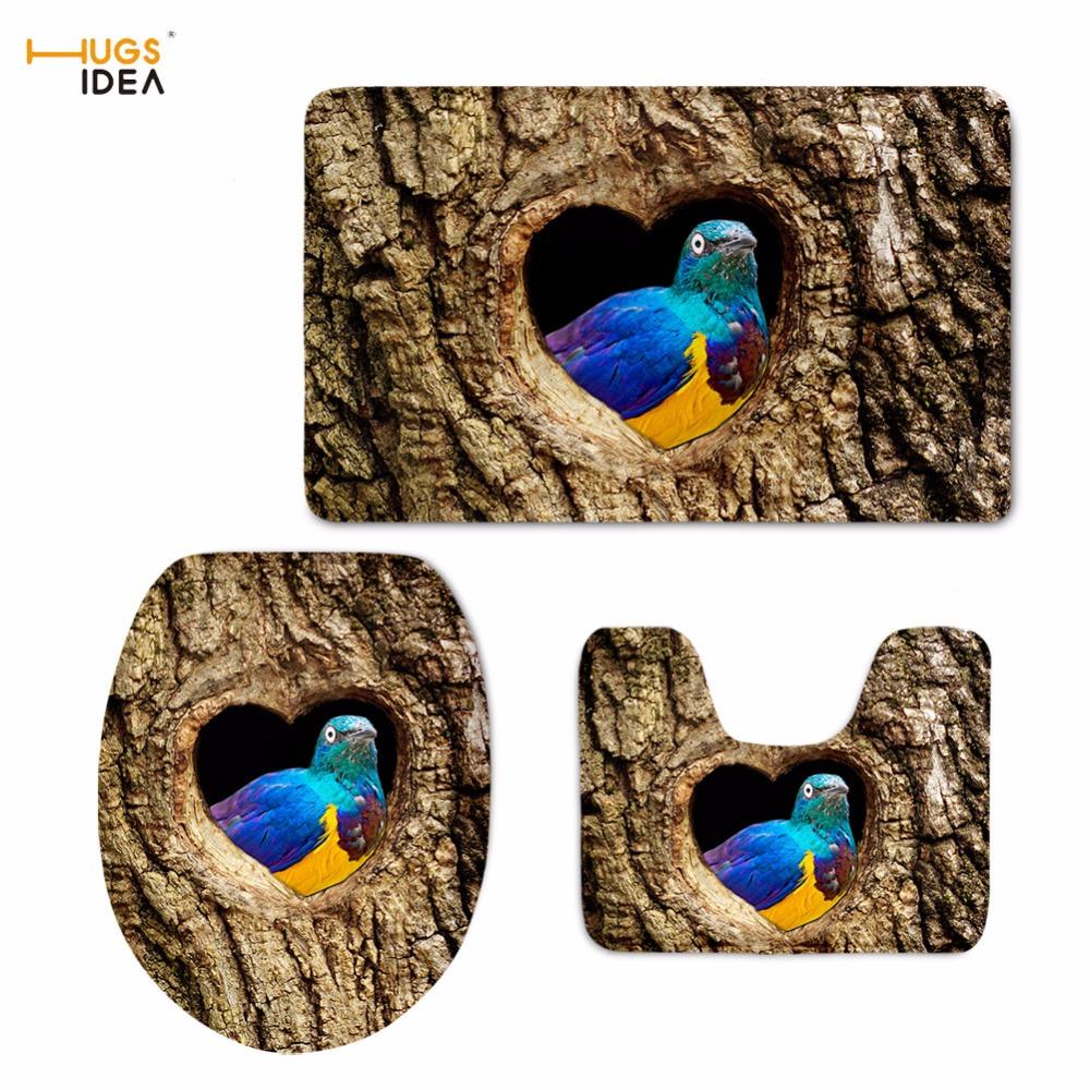 [해외]HUGSIDEA 솔리드 변기 시트 커버 3 조각 귀여운 올빼미 새 인쇄 화장실 뚜껑 욕실 욕실 욕조 영역 러그 샤워 매트 홈 데코 레이팅/HUGSIDEA Solid Toilet Seat Cover 3Piece Cute Owl Bird Printing Toilet