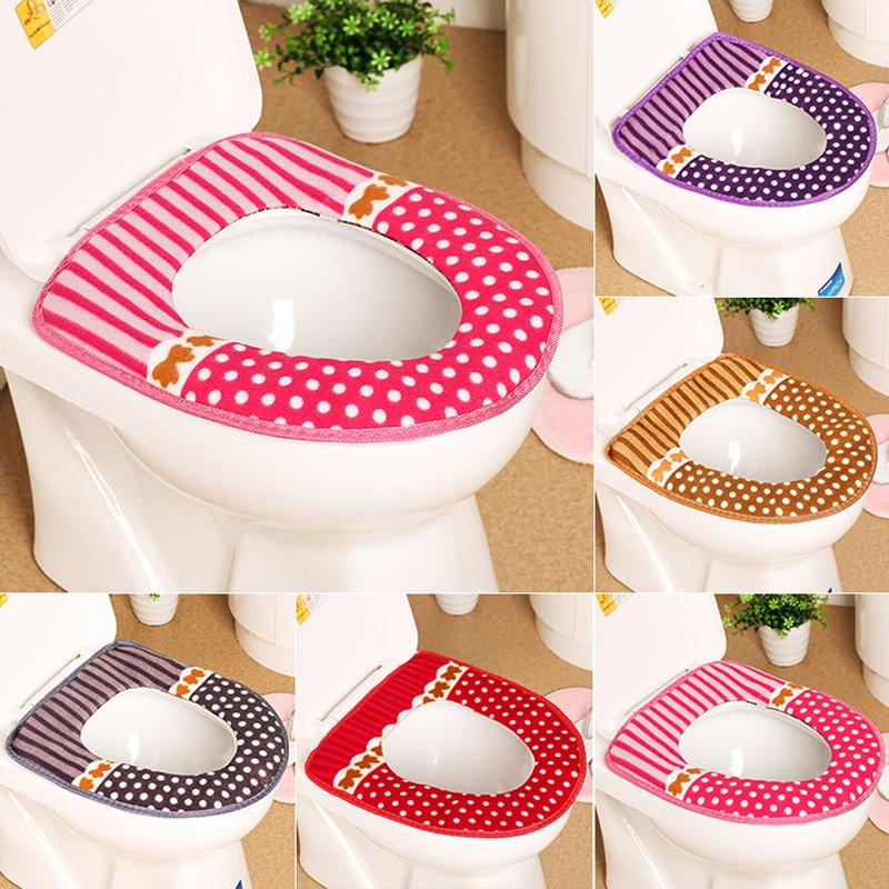 [해외]따뜻한 편안한 화장실 좌석 커버 욕실 제품에 대 한 코 튼 받침대 팬 쿠션 패드 욕실 장식 5 색 옵션/Warm Comfortable Toilet Seat Covers for Bathroom Products Cotton Pedestal Pan Cushion Pa