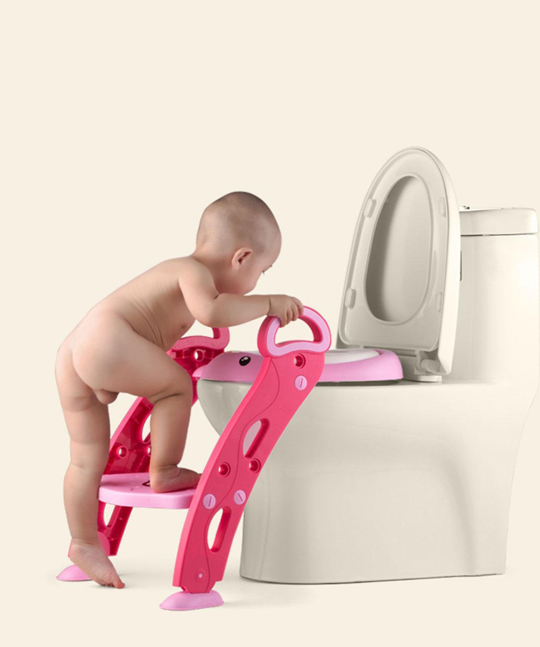 [해외]새로운 브랜드 3 색상 어린이 안전 화장실 사다리 아기 PottyFirm Unti 슬립 조절 휴대용 접는 사다리/New Brand 3 Colors Child Safety Toilet Ladder Baby PottyFirm Unti-slip Adjustable P