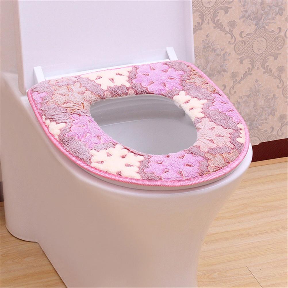 [해외]끈적 끈적한 화장실 매트 부드러운 온수 변기 가열 열 받침대 패드 워시 가능 변기 커버/Sticky Toilet Mat Soft Warm Toilet Seat Heated Closestool Pad Washable Toilet Seat Cover