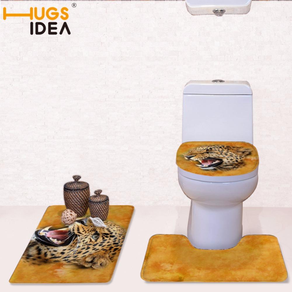 [해외]HUGSIDEA 세 조각 세트 욕실 변기 커버 3D 생생한 동물 깔개 따뜻한 Wasbaar 매트 부드러운 욕실 화장실 변기 커버/HUGSIDEA Three-piece Set Bathroom Toilet Seat Cover 3D Vivid Animal Rug Wa
