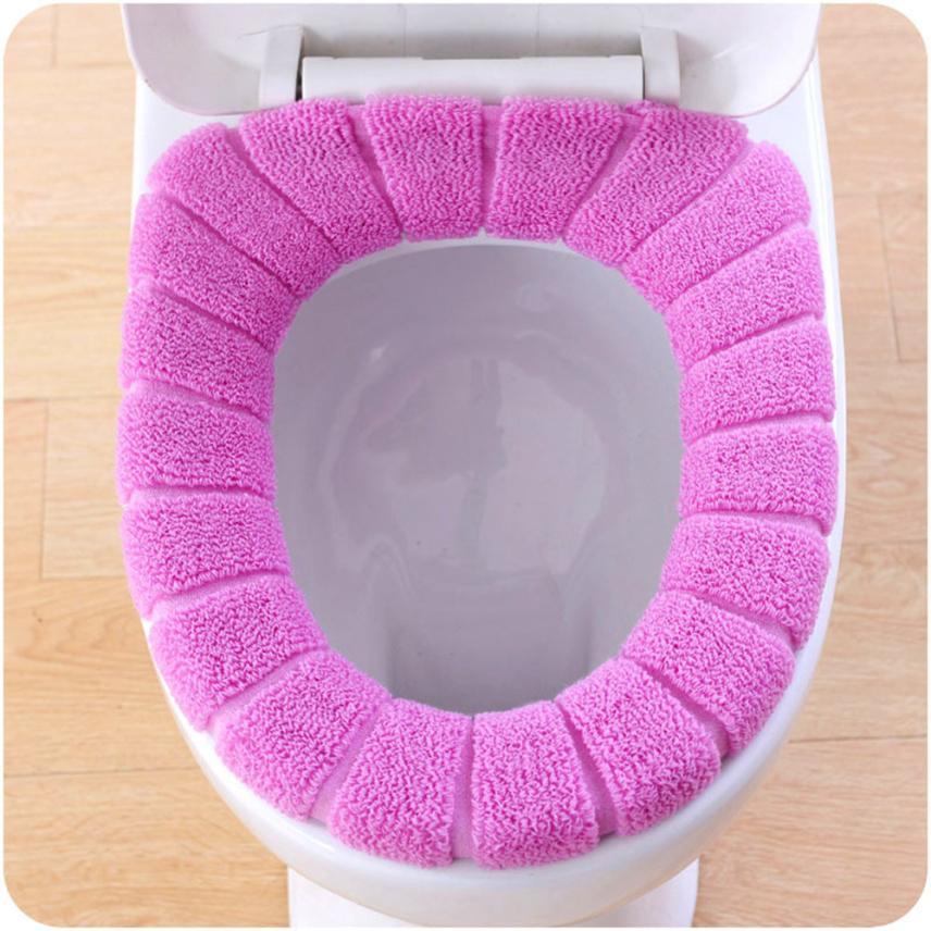 [해외]1PC 변기 매트 편안한 벨벳 산호 변기 커버 표준 호박 패턴 쿠션 변기 커버/1PC Toilet mat Comfortable Velvet Coral Toilet Seat Cover Standard Pumpkin Pattern Cushion Toilet Seat