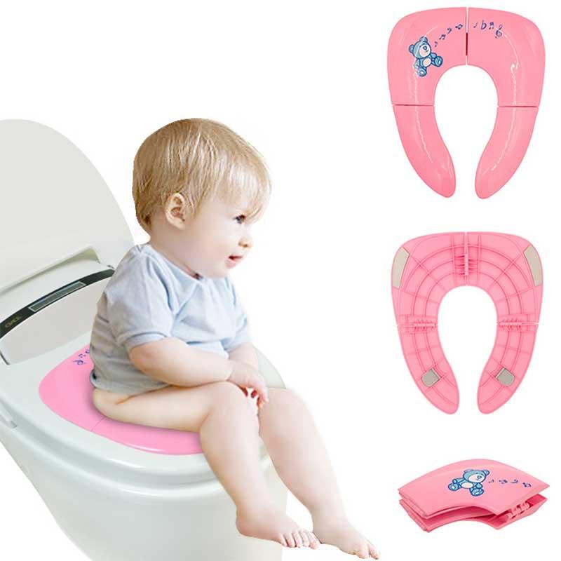 [해외]최신 어린이 화장실 의자 변기 커버 접이식 변기 패드 교육 유아 어린이를어린이 안전 제품 어린이 화장실/Newest Child WC Chair Toilet Seat Cover Folding Potty Seats Pad Training Children Safety