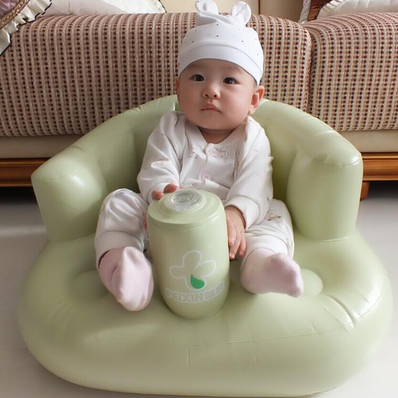 [해외]아기 소파 팽창 식 좌석 소년 놀이기구 녹색 분홍색 파란 아기 좌석은 세척을 위해 먹습니다 놀이 아이 소파 내장 공기 펌프 자동 inflation/Baby sofa inflatable seat boys plaything green pink blue baby se