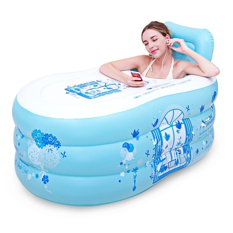 [해외]풍선 욕조 두꺼워 접는 플라스틱 배럴 성인 목욕 양동이/inflatable tub thickening folding plastic barrel adult bath bucket