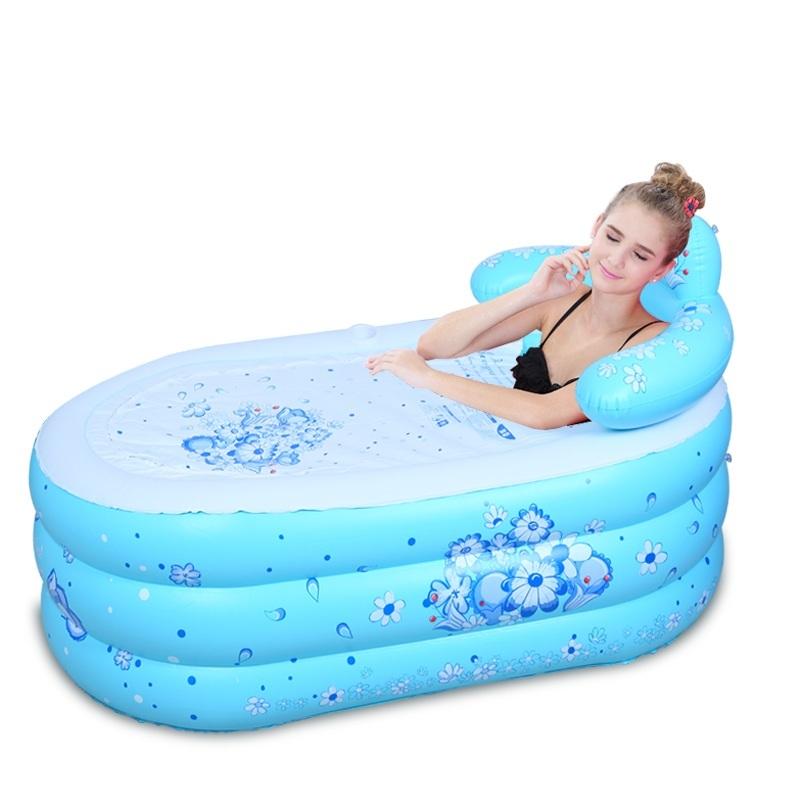 [해외]대형 풍선 욕조 가정용 욕조 어른 짙어지기 절연 배럴 접이식 목욕 양동이 가방 메일/large inflatable bathtub household tub adult thickening insulation barrel folding bath bucket bag m