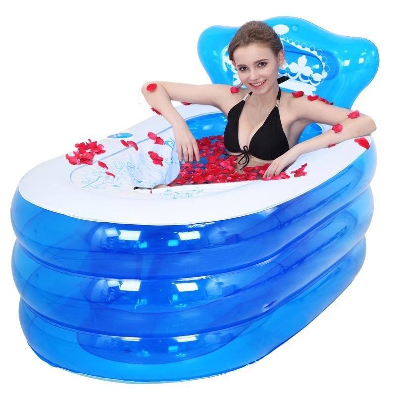 [해외]풍선 욕조 가정용 두꺼운 접는 성인 목욕 배럴 플라스틱 샤워 버킷/inflatable tub household thickening folding adult bath barrel plastic shower bucket