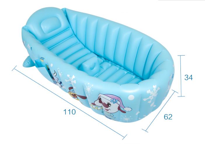 [해외]아기 팽창 식 욕조 큰 절연 아기 안전 욕조 겨울 절연 욕조 안전 좌석 지원/Baby Inflatable Bathtub Large Insulation Baby Safety Bathtub Winter Insulation Bathtub Security Seat Su