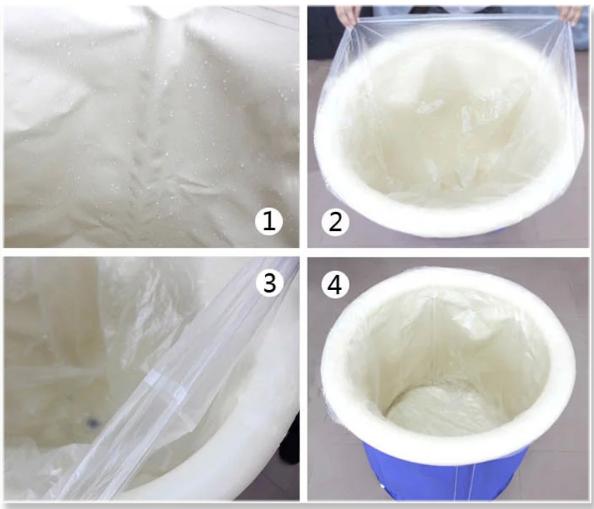 [해외]일회용 청소 목욕 양동이 두꺼운 비닐 봉투 접는 목욕 양동이 목욕 양동이 가방 비 풍선 욕조 필름/Disposable Cleaning Bath Bucket Thickening Plastic Bag Folding Bath Bucket Bath Bucket Bag