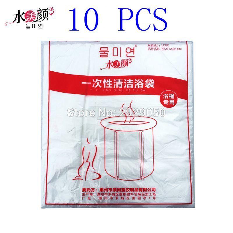 [해외]10PCS 120X130cm 처분 할 수있는 플라스틱 목욕 부대 접히는 목욕 물통 특별한 목욕 부대 휴대용 욕조 특별한 목욕 부대/10PCS 120X130cm disposable plastic bath bag folding bath bucket special b